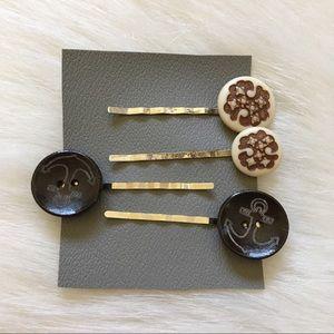 2 Sets Of Handmade Bobby Pins
